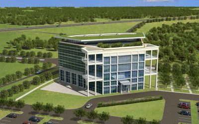 Liberty Crossing Office Building Rendering, Front View