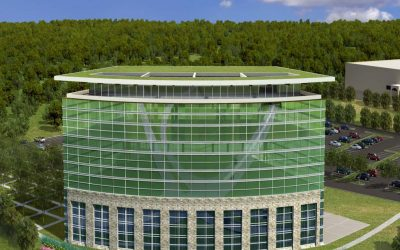 Liberty Crossing Office Building Rendering, Rear View
